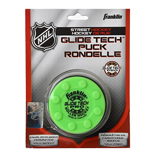 Franklin Electronics NHL Glide Tech Pro Street Hockey Puck, Todo el año, Color Verde, tamaño Medium