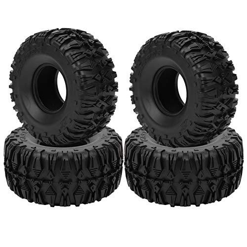 Rueda de Goma RC, Agarre Fuerte de neumático de Goma RC para SCX10 TRX4 TRX6 D90 1/10 Coche con Control Remoto y Otras Ruedas de 2.2 Pulgadas