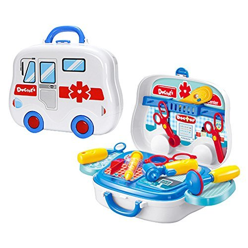 Zebrum Medical Toy Kit, Pretend Doctor & Nurse Medical Box Play-Set for Kids, 16 PCS of Medical Tools Include Electronic Stethoscope - Good Choice