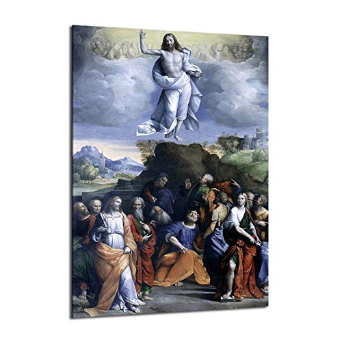 Ascension Of Jesus Christ Into Heaven Poster Paintings On Canvas Modern Art Decorative Wall Pictures Home Decoration (No Frame,8x12inch)