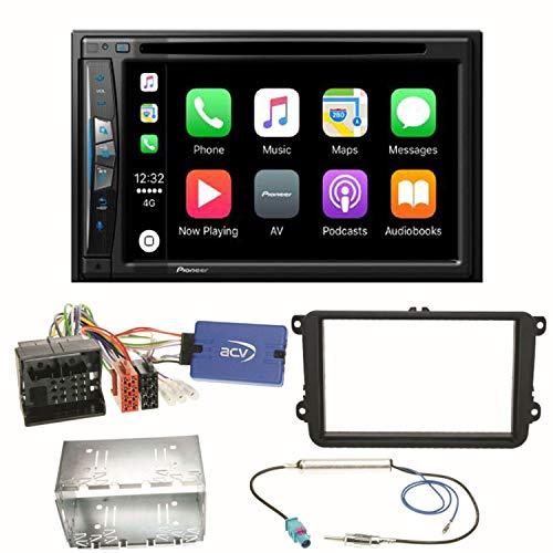 Pioneer AVIC-Z610BT - Sistema de navegación para Coche (USB, CD, DVD, Bluetooth, MP3, WMA, 2 DIN, para Golf 5, 6, Passat 3C, B7)