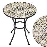 Deuba Mesa Mosaico Bilbao Ø60cm Redonda con Azulejos Altura 70cm Muebles de jardín terraza balcón Interior y Exterior