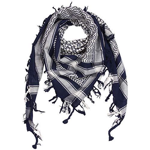 Superfreak Palituch - blau-navy - weiß - 100x100 cm - Pali Palästinenser Arafat Tuch - 100{1e397ba6feae195c40726ac1b7a137382e55a7548f1b9af74ef9ff2af0b78303} Baumwolle