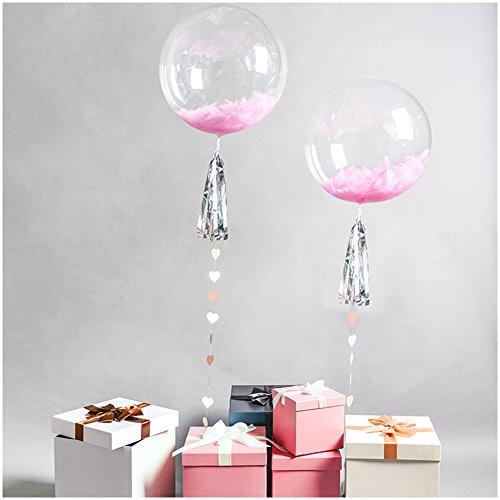 10 Rund Bubble Luftballons für Party, Traceless Transparent PVC Ballon für Geburtstag Hochzeit Party Dekorationen Keine Falten, PVC, Durchsichtig, 45,7 cm (18 Zoll) …