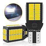 T16 LED バックランプ 爆光 2400LM キャンセラー内蔵 バックランプ T16 / T15 4014LED 54連 12V-24V 無極性 ホワイト 後退灯 バックライト (2個セット)