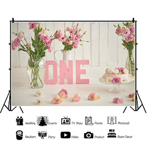 Leowefowa Baby Boys 1st Birthday Photo Booth Backdrop for Photography 12x8ft Silver Flowers Mini Car Balls Vinyl Background Baby Boy Cake Smash Photo Shoot Props Wallpaper