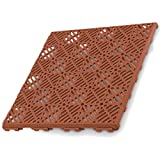 Antihumedades Pack de 24 losetas Suelos de terraza, Piscinas, trasteros (30x30cm) - Color Terracota