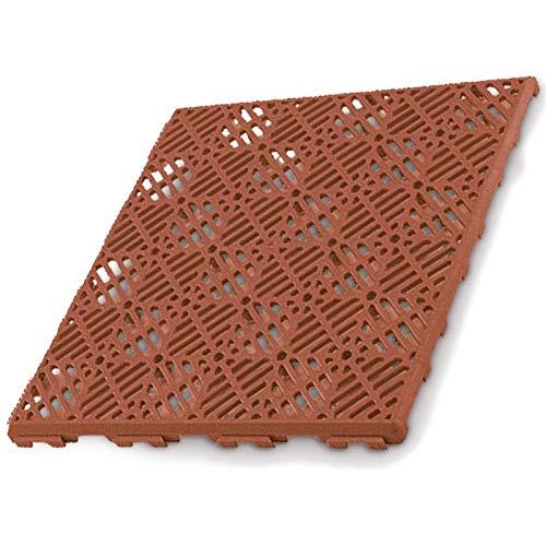 Pack 12 losetas antihumedad para suelos de terrazas (30x30cm) - Color Terracota