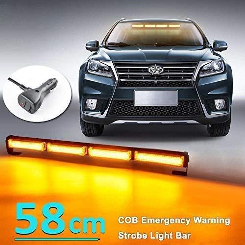 14 Blinken LED Warnleuchte Orange Blitzleuchte Rundumleuchte Auto mit Magnetfuß Lichtleiste für LKW Dach oben Gelb Warnlicht