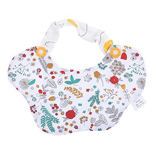 DOITOOL Babero para Bebés Babero de Algodón Impermeable Lavable Verde Delantal para Niños Delantal de Alimentación para Bebés Receptor de Alimentos para Recién Nacidos Bebés Comiendo