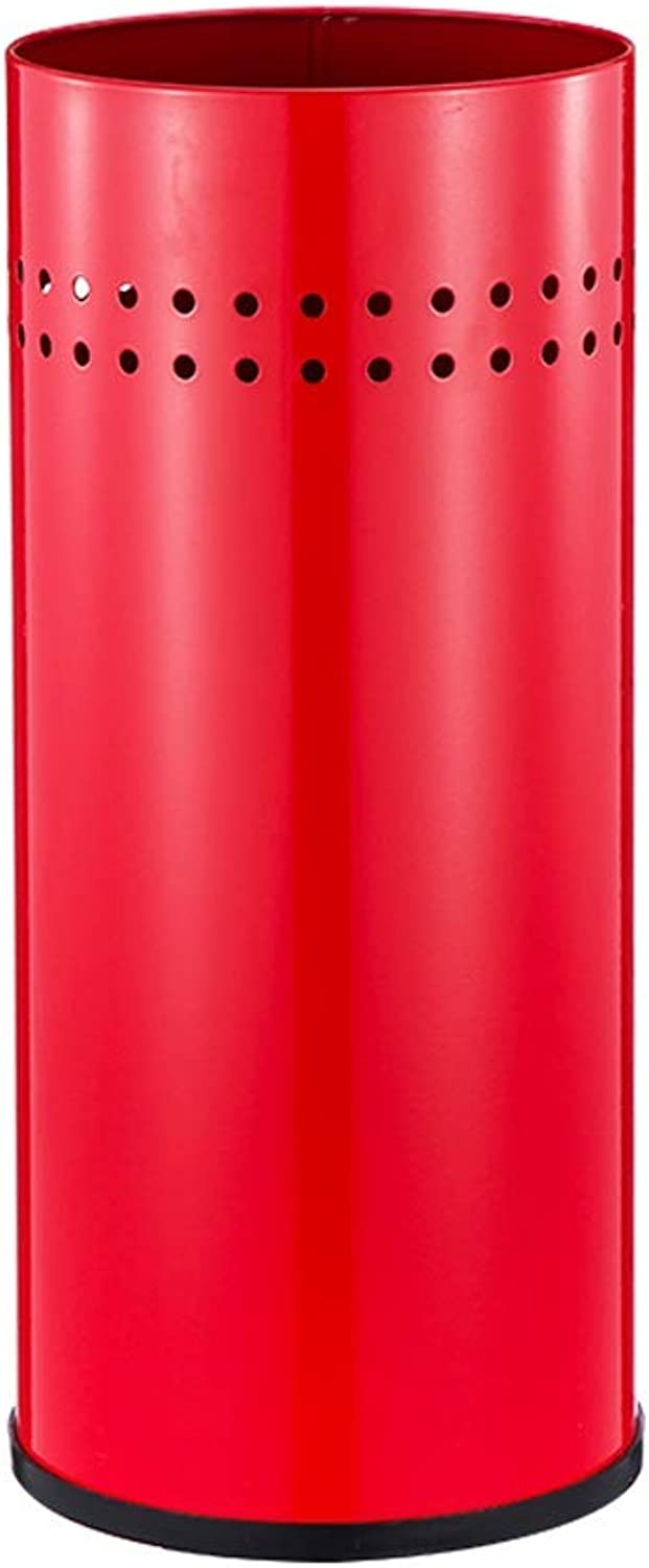 Jia He Umbrella Stand Rack Umbrella tub Entrance Lobby Simple Home Storage Rack Stainless Steel Umbrella Long Short Rib Accommodating Cylinder -4 colors Available @@ (color   Red)