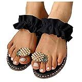 Donna Sandali Scarpe A Punta Piatta Pantofole Bohemien Con Perle Di Ananas Scarpe Casual Sandali Da Spiaggia Pantofole Ciabatte Esterno Uomo Donna