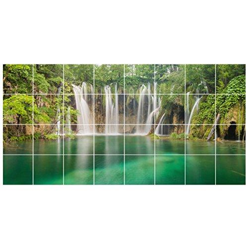 Bilderwelten Fliesenaufkleber Wasserfall Plitvicer Seen Fliesengröße 15x15cm Größe 60x120cm