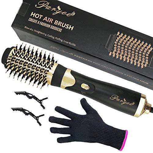 Paryoe Hot Air Hair Dryer Brush 4 in 1 Step Hair Blow Dryer Volumizer Styler for Fast Drying Volumizing Straightening, 110V