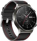 JWTPRO 22mm Cinturino di Ricambio per Huawei Watch GT / GT2 / GT2, Sportivo Smartwatch Cinturini con Regolabile Fibbia, Orologio Fitness Watch Band per Uomini e Donne, Nero