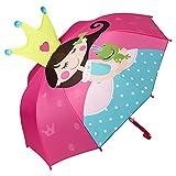 VON LILIENFELD Paraguas Motivos Infantil Princesa con Rana Cuento Decoración Niños Niñas hasta 8 años