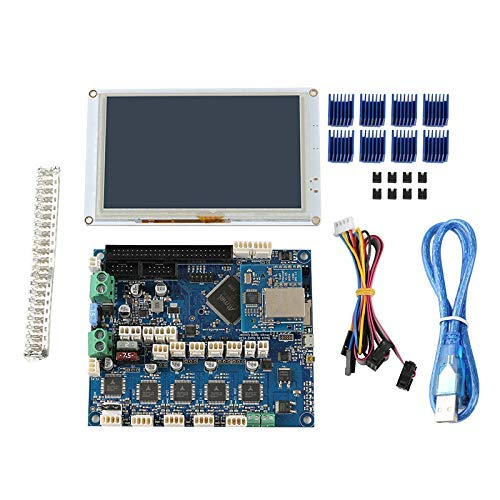 CAIJINJIN Module Clone Duet 2 Ethernet Motherboard + PanelDue5I Integrated Color Press Screen 3D Printer Kit