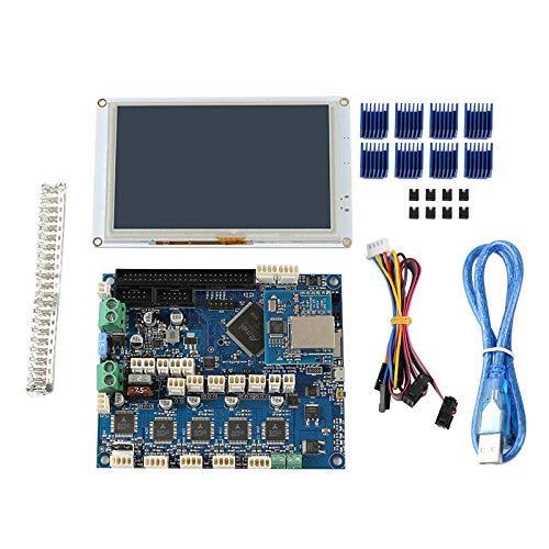 Yongenee Clone Duet 2 Ethernet Motherboard + PanelDue5I Integrated Color Press Screen 3D Printer Kit