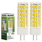 MENGS Pack de 2 Bombilla lámpara LED 7 Watt G4, 75x 2835 SMD, blanca fría 6500K,AC/DC 12V
