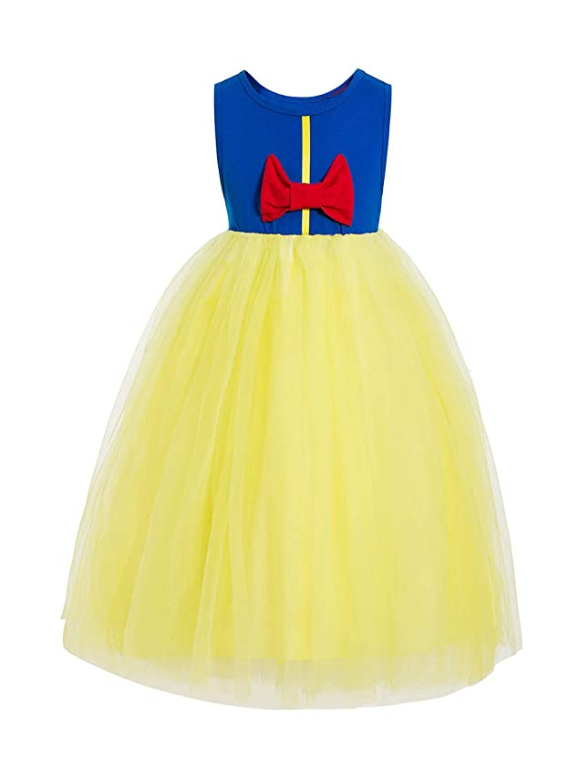 Waruila Sequin Princess Snow White Deluxe Layered Costume Dress Snow Queen Ball Gown Costume Tutu Dress up for Little Girl