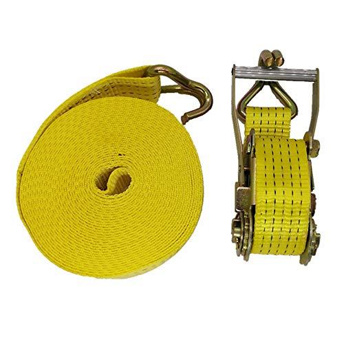 Correas de amarre El cinturón de trinquete de 2 x 50 mm se puede atar con un remolque marino del cinturón pesado de la fuerza de ruptura de 5000 kg para motocicleta, equipaje de coche