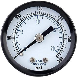 Topker 0-20bar 0-300psi Mini jauge de Pression pneumatique compresseur d'air manomètre Compteur Pression du Fluide hydraul...