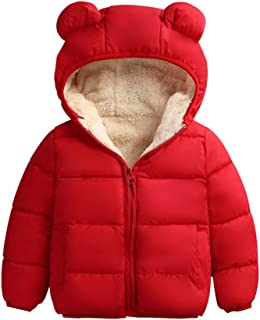 Winter Coats for Toddler Kids Baby Boys Girls Padded Light Puffer Jacket Outerwear Infant Winter Down Jacket with Hoods