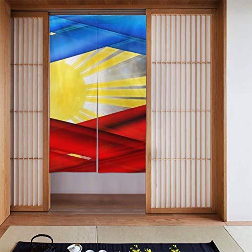 TGUBJGV Creative Filipinos Color Flag Doorway Curtain Japanese Noren Curtain Tapestry Door Way Curtain Fitting Room Curtain Partition Curtain Door Hanging Tapestry