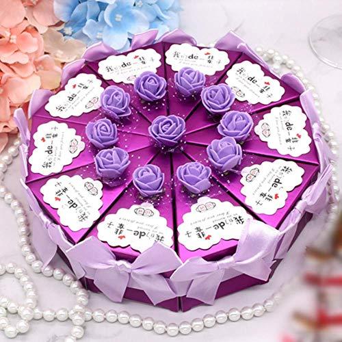 Aomerrt 10 stks/set Zoete Cake Vorm Dozen Bruiloft Snoep Opbergdoos Voedsel Container Geschenken Papieren Tas Bruiloft Favoren Feestartikelen 2 Maat