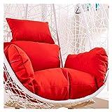 Cesta colgante Cojines para sillas con forma de huevo, impermeables, gruesos, colgantes, con huevos, hamaca, cojín para silla, columpio para patio, cojín para silla de mimbre, cojín de asiento de rat