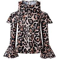 NOBRAND Camiseta casual de manga larga con botones para mujer Marrón marrón M
