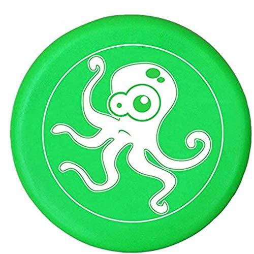 BangShou Suave Niños del Disco Volador Disco con Patrón de Dibujos Animados para Niños Deportes (Pulpo Verde) ⭐