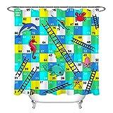 123456789 Wasserdichtes gewebe Cartoon Delphin Zahlen schildkröte duschvorhang Set Badezimmer