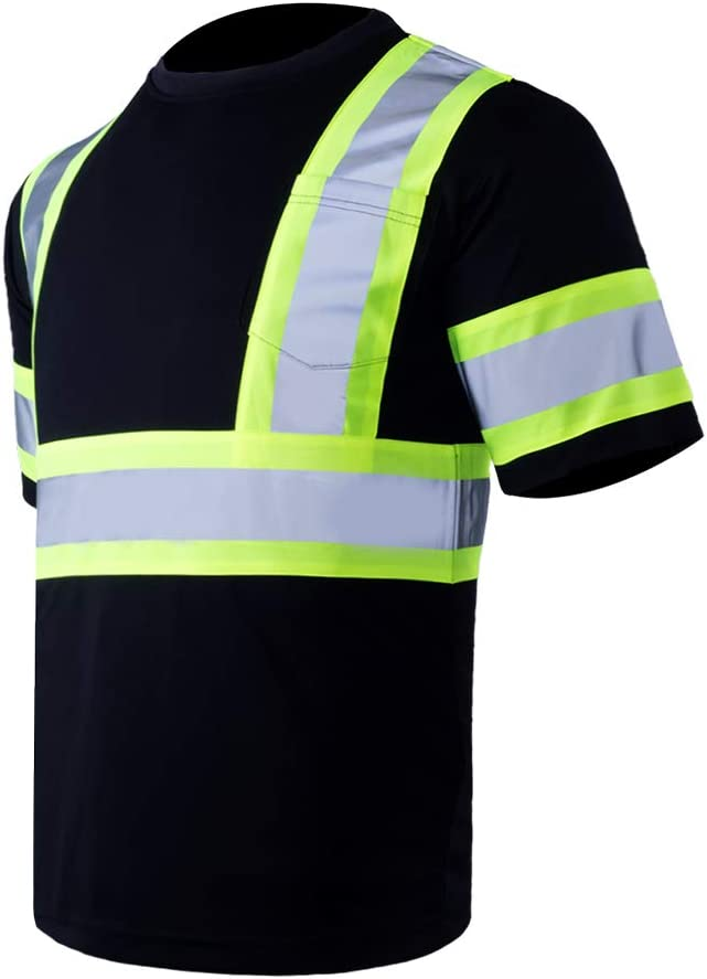 Vendace Men's High Cash special price Vis Class 2 Reflective Max 84% OFF Wo ANSI T Safety Shirt