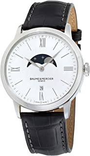 Baume & Mercier - Baume&Mercier Reloj Analógico para Mujer de Cuarzo con Correa en Cuero M0A10219