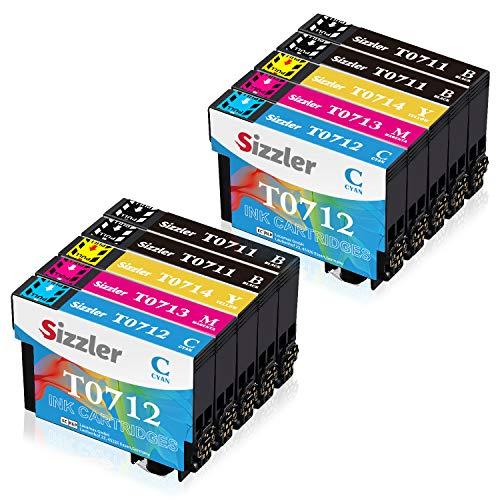 Sizzler Patronen T0715 XL Ersatz für Epson T0711 T0712 T0713 T0714 Druckerpatronen Kompatibel mit Epson Stylus SX218 SX200 SX205 SX100 SX105 S20 SX400 D78 D92 DX4000 DX7400 Office BX300F BX610FW B40W