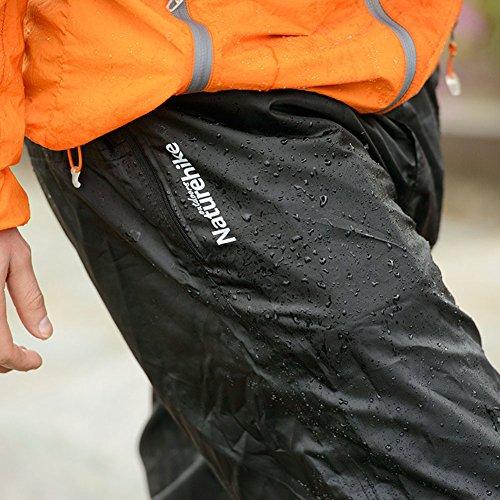 Naturehikeアウトドアスポーツ登山ランニング折りたたみ式自体収納男女兼用軽量防水レインパンツ(M)