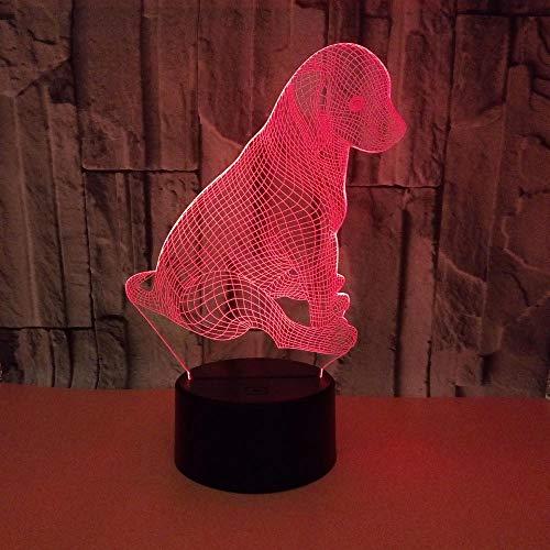 WULDOP Creativo 3D Luz De Noche Cachorro de dibujos animados lindo Lámpara Nocturna Luz De Noche Luz Quitamiedos Infantil Led Para Habitación Infantil Dormitorio Baño Cuna Pasillo