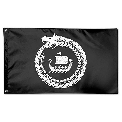 UDSNIS Norse Mythology Viking Garden Flag 3 X 5 Flag for Yard Decoration Banner Black