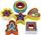 32 pezzi Set di formine per biscotti a 6 forme, set di formine per biscotti, set di formine per frutta a forma di tramezzino multi-sandwich (quadrato, rotondo, stella, cuore, fiore, Gingersnap)