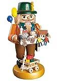 ISDD German nutcracker toy salesman, height 33 cm/13 inch, original Erzgebirge by Richard Glaesser Seiffen
