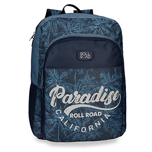 51cSbSYEDFL - Mochila escolar 40cm adaptable Roll Road Palm
