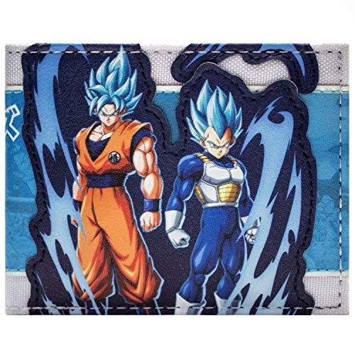 Dragon Ball Super Goku Vegeta Saiyan Forme Bleue Portefeuille Bleu