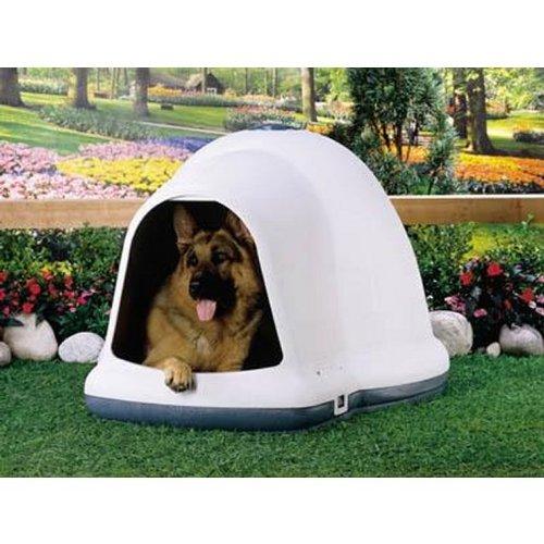 Petmate Dogloo with Microban, 90-125 lb, Taupe/Black