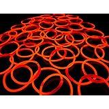 《レッド(その他9色あり)》 ルミカ社製 サイリウムブレス 単色50本セット サイリュームライトで光るブレスレット ダンスやフェス コンサートにも
