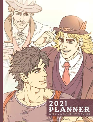 2021 Planner: The Bizarre Adventure Of JoJo Will Anthonio Zeppeli, Jonathan Joestar & Speedwagon Japanese Manga Artwork English Edition (7,44 X 9,69 ... Diary / Organiser Annual School Supplies