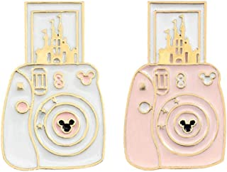 Camera Castle Lapel Pin 2 Piece Set Photography Enamel Brooch Pins Badges Clothes Accessories Art Gifts