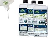 JaTop Isopropanol 99,9% Isopropylalkohol Reiniger inkl. Ausgießer - 3.000ml für Küche Haushalt & Industrie