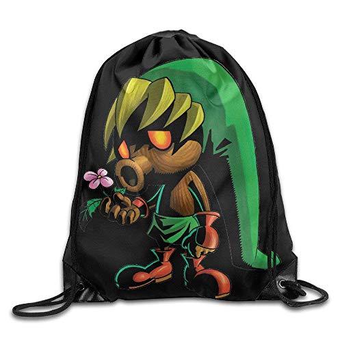Etryrt Mochilas/Bolsas de Gimnasia,Bolsas de Cuerdas, Drawstring Backpack Bag Deku Link The Legend of Zelda Nylon Home Travel Sport Storage