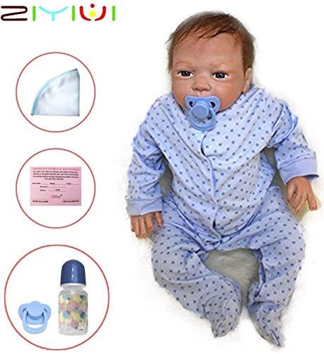 ZIYIUI Reborn Muñecas Bebé Suave Vinilo de...